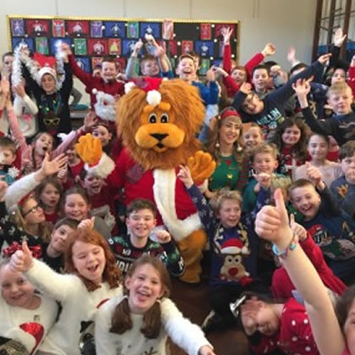 School kids rock their festive finest for St. Vincent's
